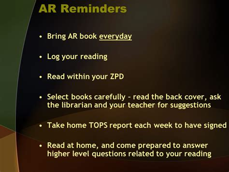 ar book report renaissance accelerated reader ppt