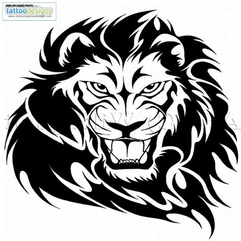 tribal tattoos lion head new black tribal design