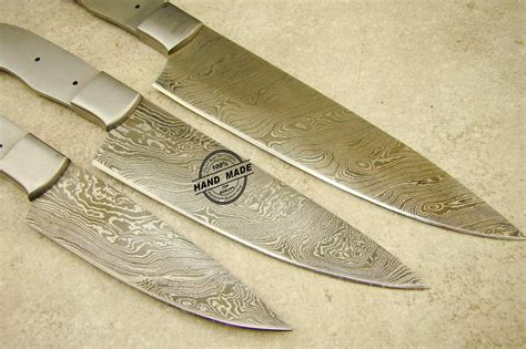 Chef Kitchen Knives lot of 3 pcs professional chef knife blank blade custom