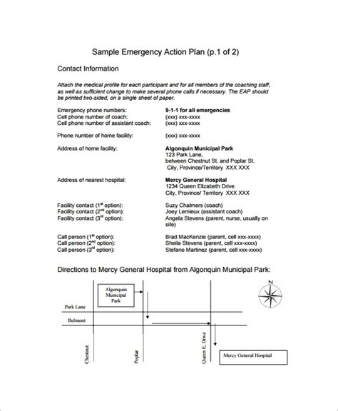 hospital plan template 11 sle emergency plan templates sle templates