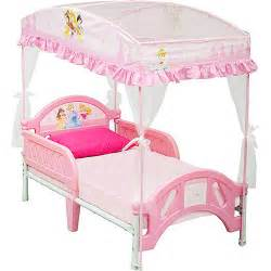 Princess Beds With Canopy by Disney Princess Toddler Bed With Canopy Walmart Com