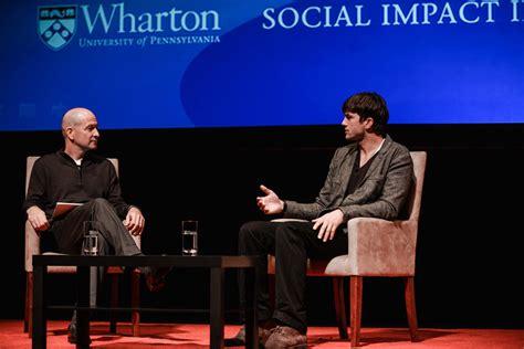 Time Mba Wharton Healthcare Reddit by Wharton Spotlight Ashton Kutcher Talks Social Impact