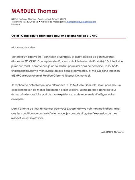 Modele Lettre De Motivation Banque Pdf lettre de motivation candidature spontan 233 e g 233 n 233 rale mise