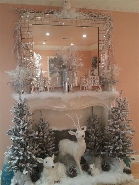 30 christmas fireplace decoration ideas white christmas