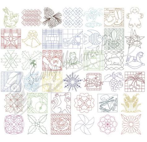 dakota collectibles quilt stitching 24 embroidery designs