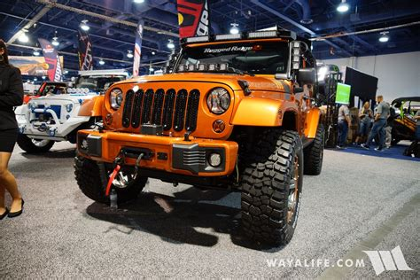 jeep wrangler orange 2017 2017 sema rugged ridge orange jeep jk wrangler unlimited