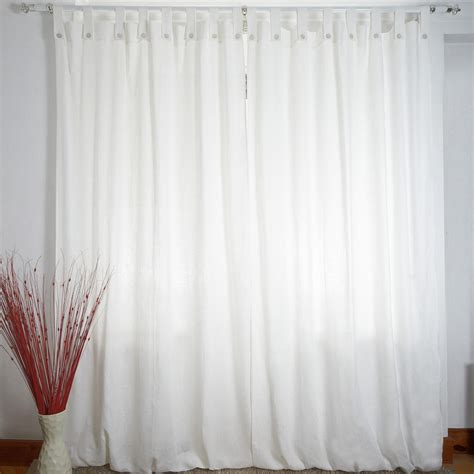 tende lino bianco tenda a bastone in lino madreperla bianco panna cuore di