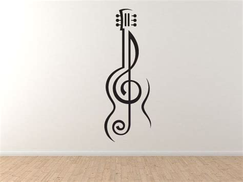 notte wohnkultur note 2 guitar treble clef symbol artist school