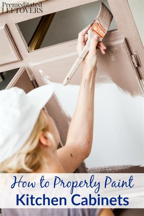easy way to paint kitchen cabinets how to properly paint kitchen cabinets