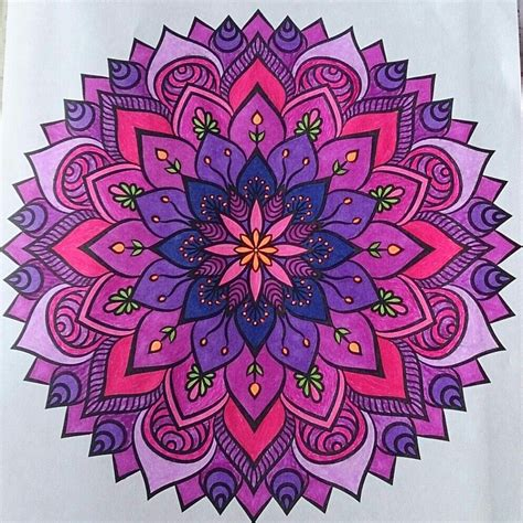 colored mandala mandala colored with gel pens and sharpie markers by judy