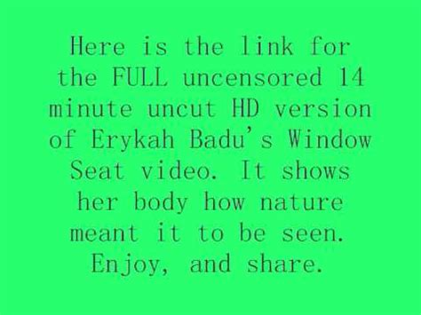 erykah badu window seat version erykah badu window seat version 14 min