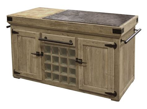 distressed pine kitchen island counter bluestone top with