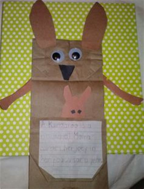 kangaroo paper craft kangaroo on kangaroos kangaroo craft and