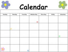 Kid Calendar Template by Printable Calendars