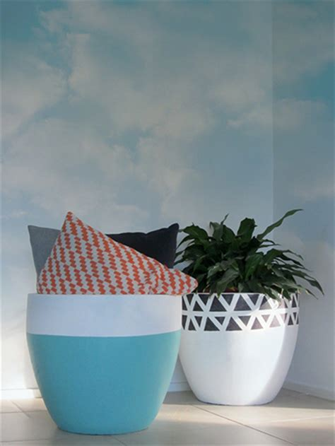 modern mini painted plant pots painting outdoor garden pot haymes paint