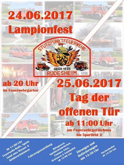 Musterbrief Einladung Tag Der Offenen T R Einladung Tag Der Offenen T 252 R Fw R 252 Desheim Feuerwehr Vg