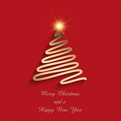 arbol de navidad vector fondo rojo con un 225 rbol de navidad dorado descargar