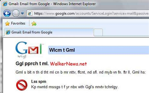 april fools day 2010 gmail login home page missing vowel