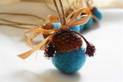 acorn ornaments acorn ornaments felt acorns tree ornament