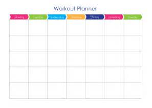 workout timetable template free exercise workout planner