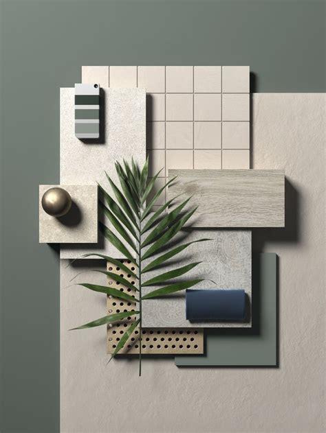 material palette beachy materials board interior