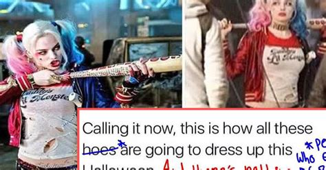 Meme Sexist - this person corrected a sexist suicide squad meme attn