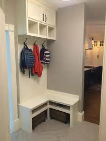 corner bench mudroom built in small mudroom home sweet