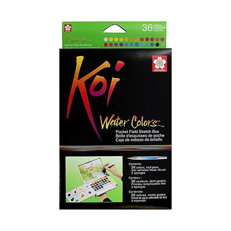 Koi Water Color Pocket Set 48 watercolour painting sets koi savings club
