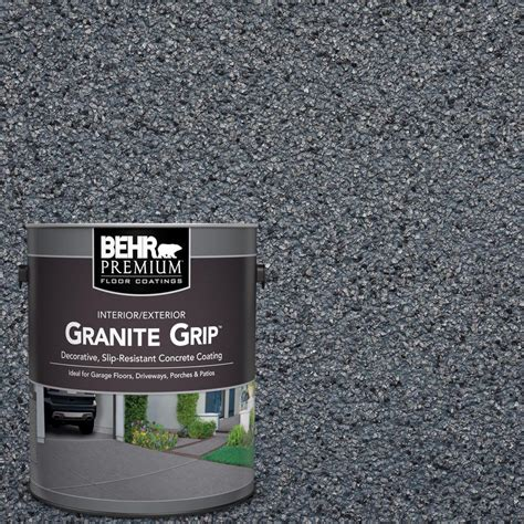 behr premium 1 gal gg 05 azul diamond decorative concrete floor coating 65001 the home depot
