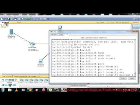 cisco packet tracer tutorial in hindi cisco switch port security packet tracer demonstration