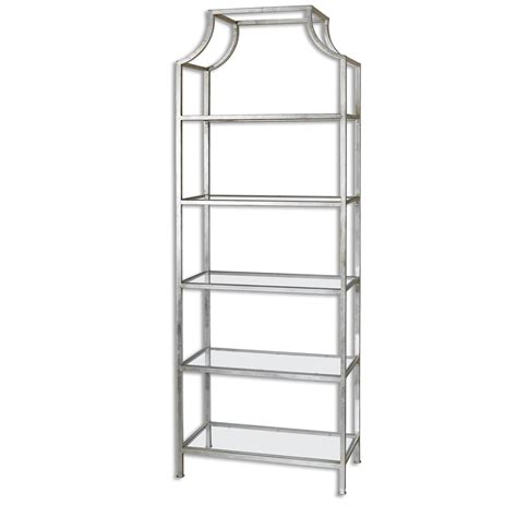 etagere uttermost uttermost accent furniture 24514 aurelie silver etagere