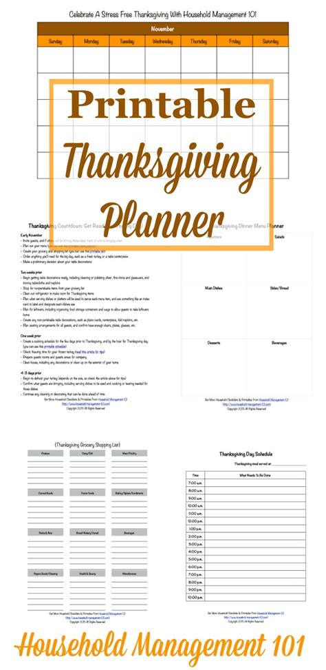 printable thanksgiving planner free printable thanksgiving planner 5 forms included