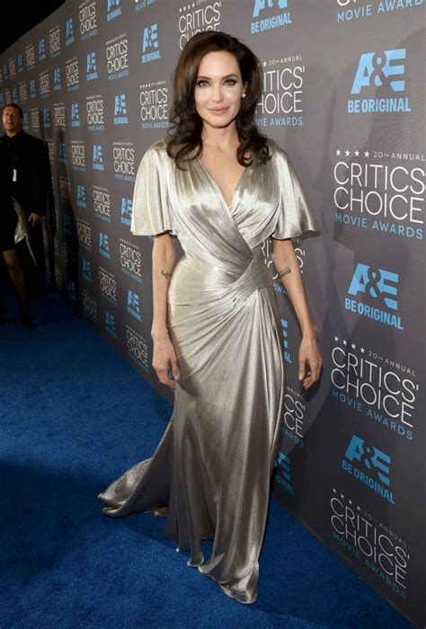 angelina jolie 2015 critics choice movie awards in los angelina jolie is seductive in silver atelier versace at