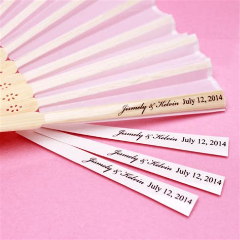 personalized fans with picture personalized clear hand fan labels 24 pieces hang tags