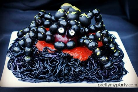 Halloween Spooky Spaghetti Recipe Pretty Party