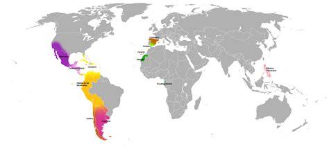 portugiesische möbel hispanic countries map file map hispanic countriespng
