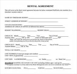 Rental Agreement Templates by Sle Rental Agreement Template 8 Free Documents
