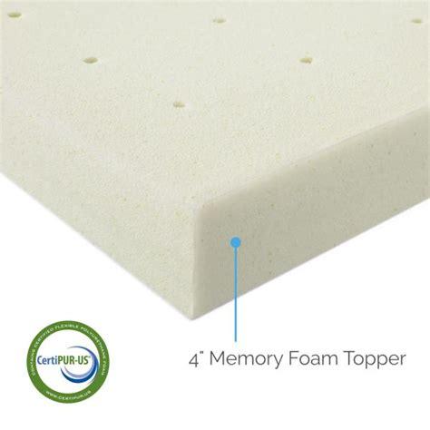 4 quot memory foam mattress topper by lucid 174 linenspa