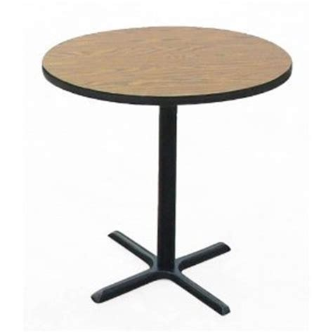 Standing Bar Table Bar Stool Standing Height Cafe And Breakroom Table 48 Quot With Top In Walnut By