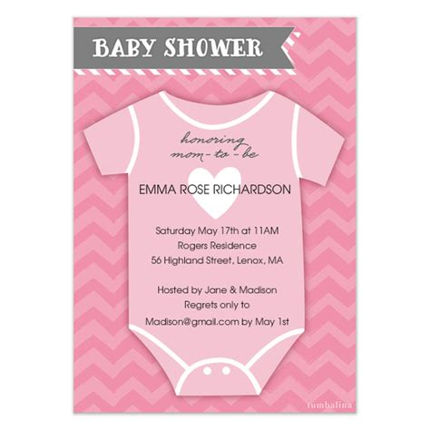 pink onesie baby shower invitations images baby shower invite onesie pink invitations cards on