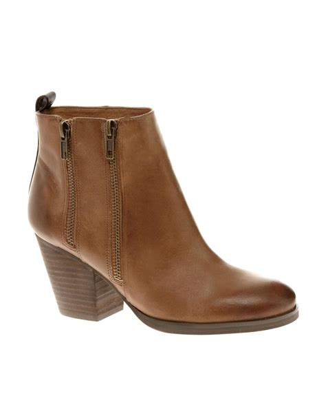 Ankle Zip by Aldo Aldo Fiera Zip Ankle Boots In Brown Lyst