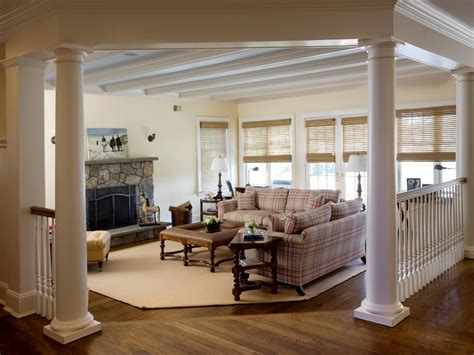 living room columns photo page hgtv