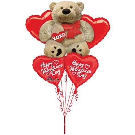 big valentines day balloons big cuddly s day helium balloon bouquet 5