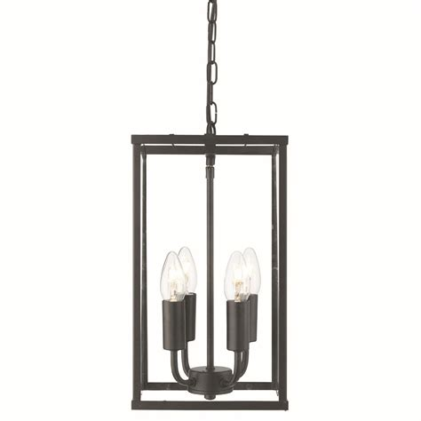 Black Lantern Ceiling Light 4 Sided Glass Ceiling Light Lantern 4 Light Black