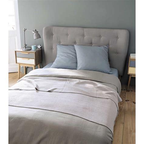 tete de lit vintage t 234 te de lit capitonn 233 e vintage en tissu grise l 160 cm