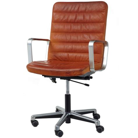 scandinavian leather office chairs 20th century scandinavian modern leather and chrome office