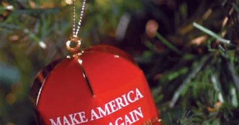 trumps gold holiday ornament    sale cbs news
