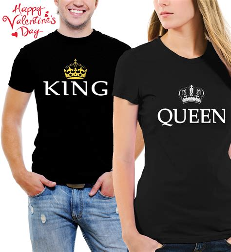 T Shirts For Couples T Shirts King Matching His And Black