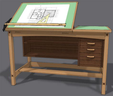 Woodworking Plans Drafting Table New Textile Machines Wood Drafting Table Plans