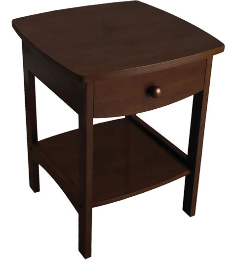 Curved Nightstand by Curved Stand Walnut In Nightstands